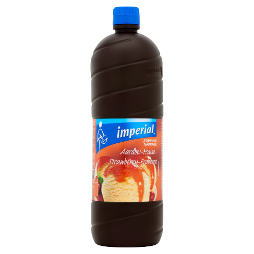 Imperial Dessertsaus Aardbei 1 l Fles (1L)