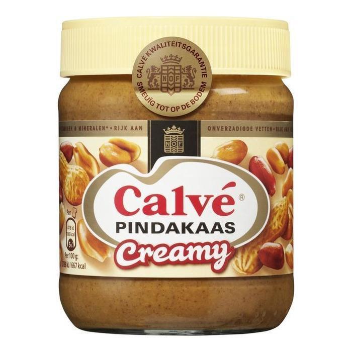 Calve Pindakaas, Creamy (pot, 350g)