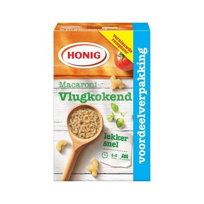 Honig Deegwaar Macaroni Vlugkokend 1000 g Doos (1kg)