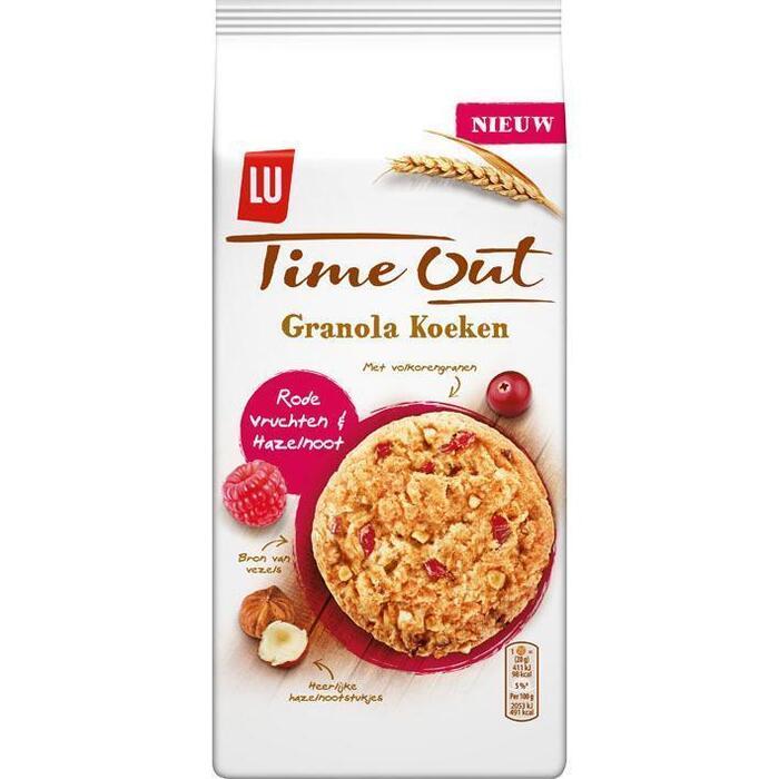 LU Time Out Granola Koeken Rode Vruchten & Hazelnoot 160g (160g)