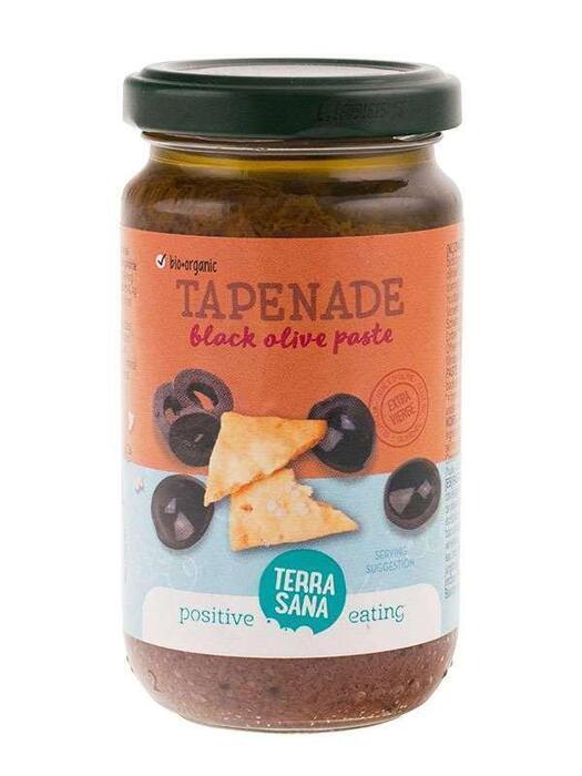 Tapenade - Zwarte olijvenpasta TerraSana 180g (180g)
