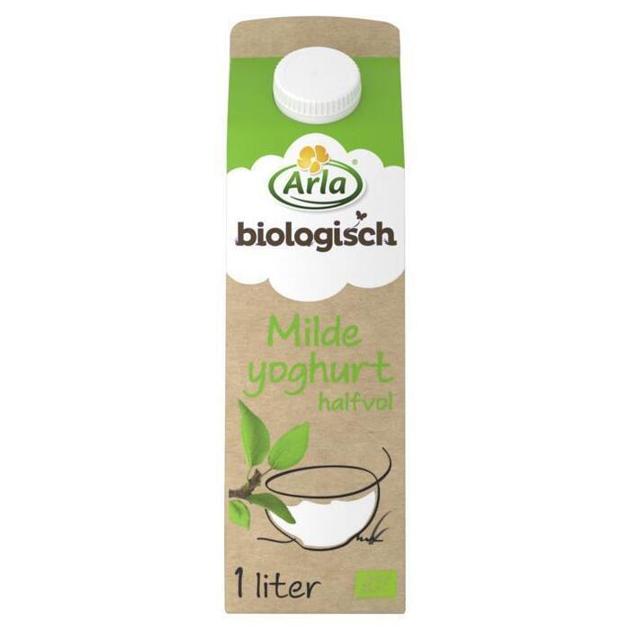 Biologische milde yoghurt halfvol (pak, 1L)
