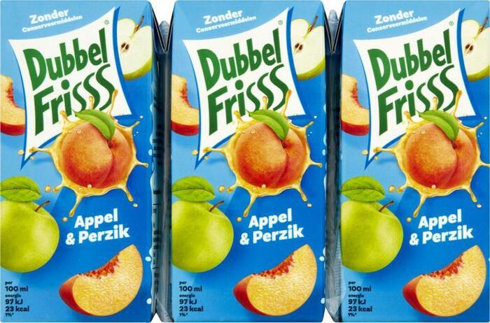 Dubbel Frisss Appel & Perzik (Stuk, 6 × 1.2L)