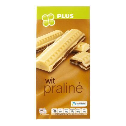 Tablet chocolade praliné wit (tablt, 200g)