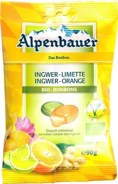 Gember-sinaasappel/limoen bonbons (90g)