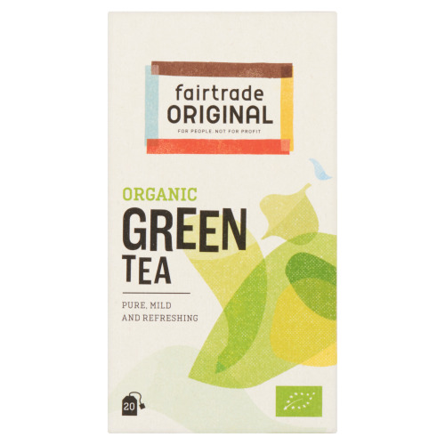 Fairtrade Original Organic Green Tea 20 x 2g (doos, 20 × 2g)