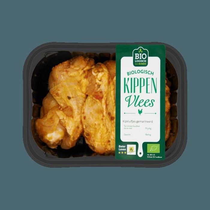 Biologisch kippenvlees kipkluifjes gemarineerd (200g)