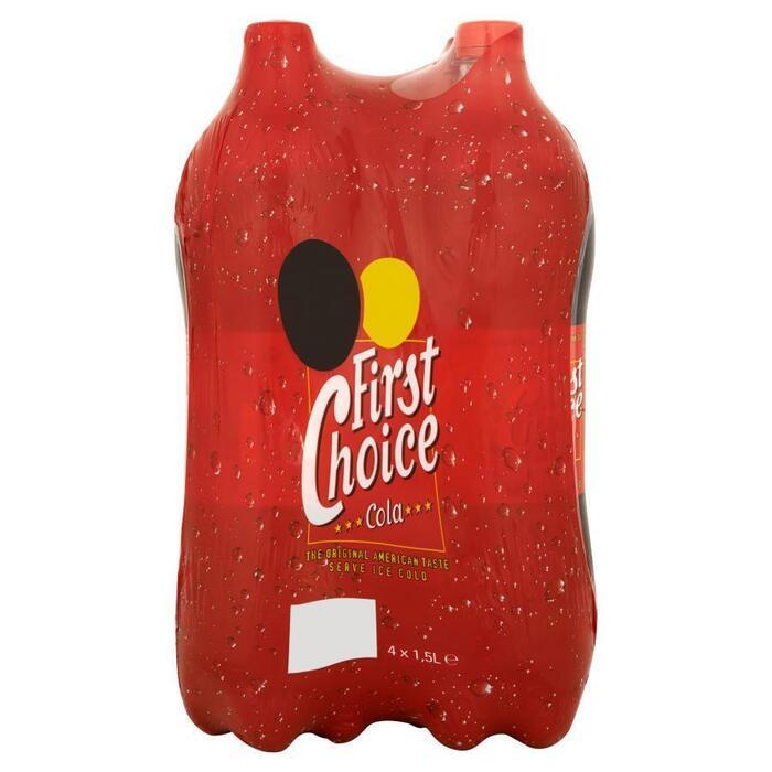 First Choice Cola regular 4 x 1500ml (6L)