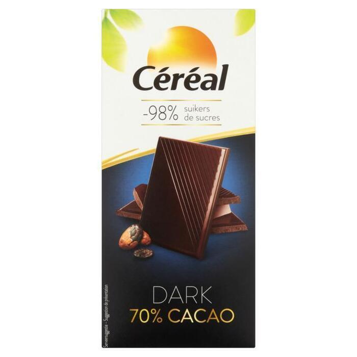 Céréal Dark 70% Cacao 80 g (92g)