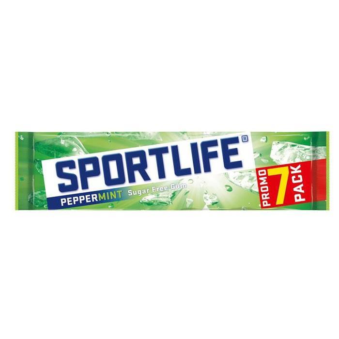 Sportlife Peppermint Suikervrij Kauwgom Promo 7-pack Blister 7 x 17 g (Stuk, 7 × 18g)