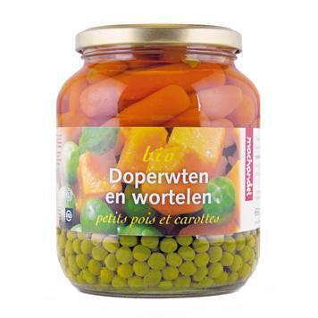 Doperwten en wortelen (pot, 0.68L)