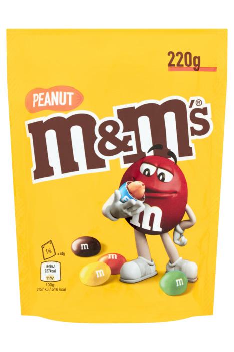 M&M's PEANUT Chocoladedragees 220 GRM Stazak (220g)