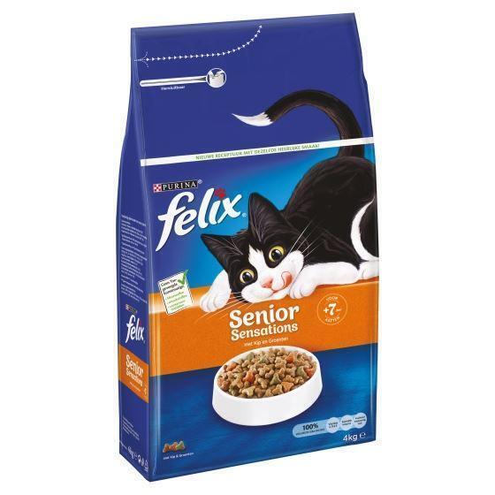 Felix Senior Sensations met Kip en Groenten 4 kg (4kg)