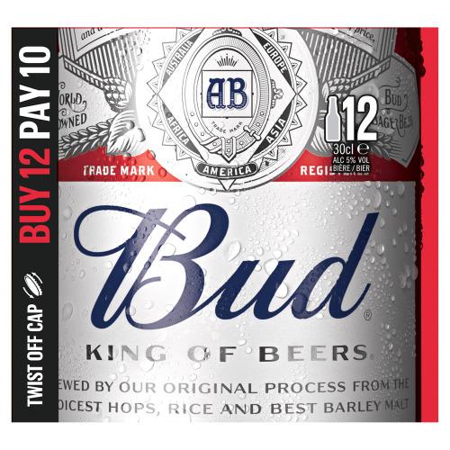 Bud Pils Bier Flessen 12 x 30 cl (12 × 30cl)