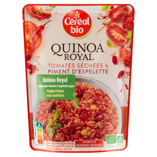 Céréal Bio Quinoa Royal Gedroogde Tomaten & Espelette Peper 220 g (220g)