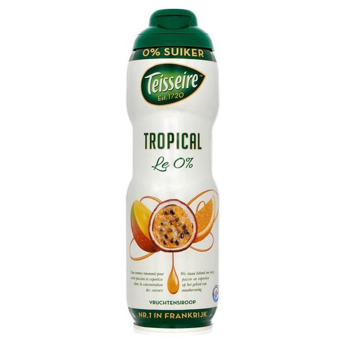 Siroop tropical 0% suiker (rol, 75 × 0.75L)