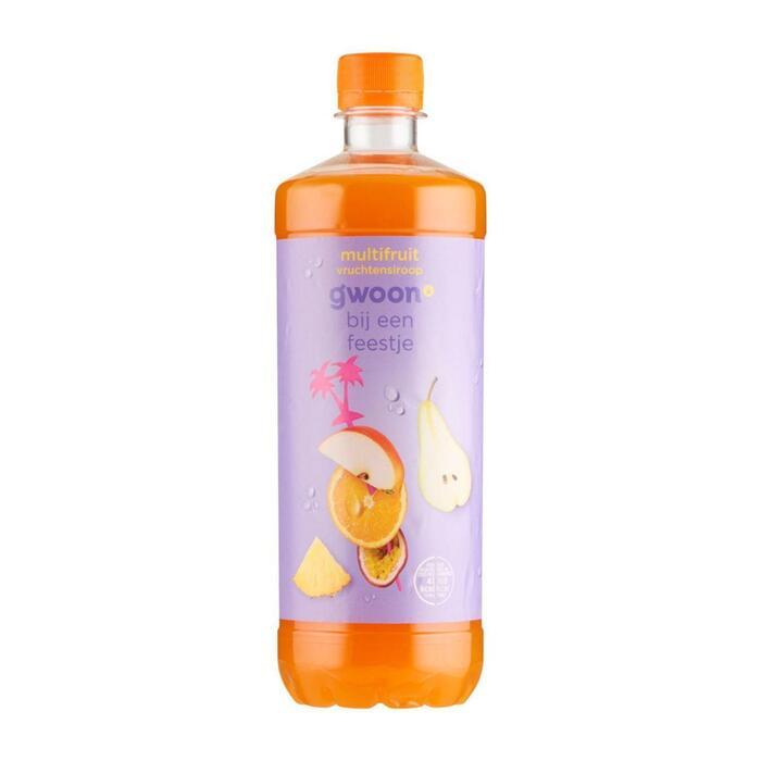 g'woon Multifruit siroop (0.75L)