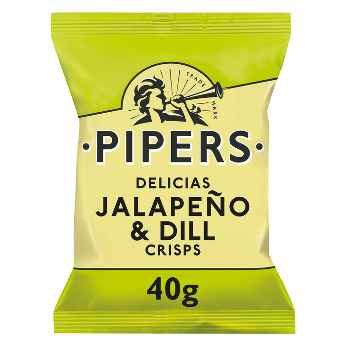 Pipers Chips jalapeno smaak 40 gram (40g)