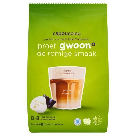 g'woon Capsules cappuccino (16 × 168g)