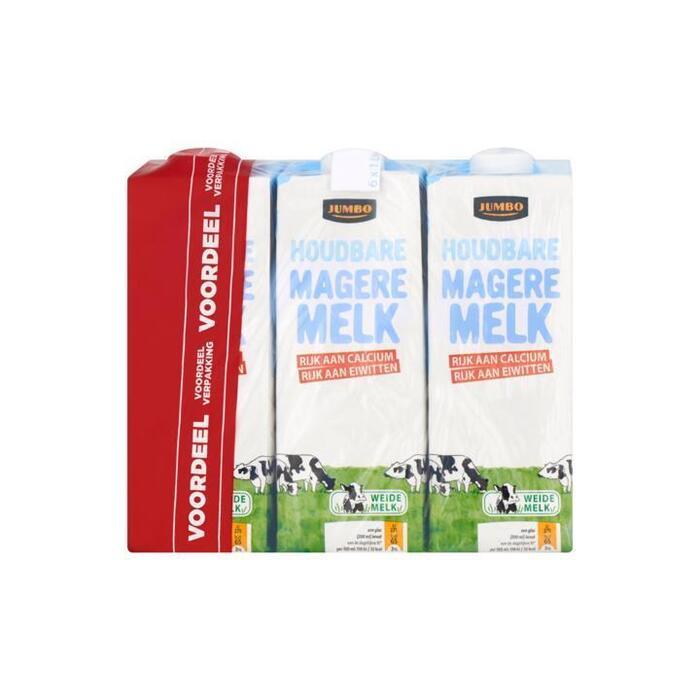 Jumbo Houdbare Magere Melk Voordeelverpakking 6 x 1L (6 × 1L)