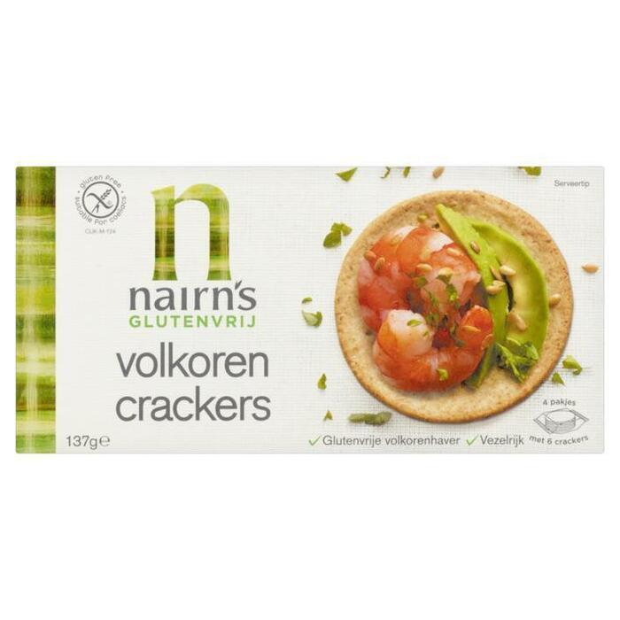 Nairn's Wholegrain crackers glutenvrij (137g)