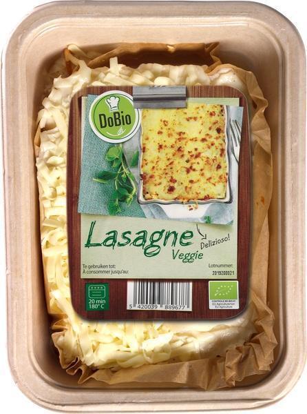 Lasagne vegetarisch met mozzarella (400g)