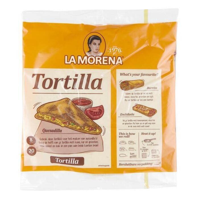 La Morena Tortilla wraps original (8 × 320g)