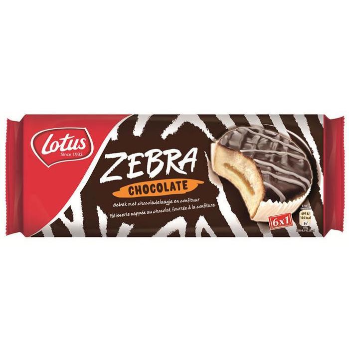 Lotus Koek Zebra Chocolade 6 x 38,5 g (6 × 231g)