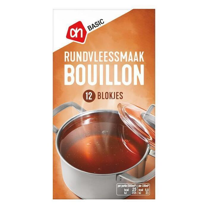 AH BASIC Bouillon blokjes vlees smaak (120g)