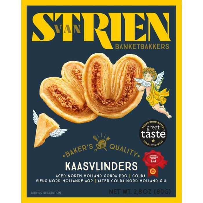 Butter cheese palmiers (doos, 80g)