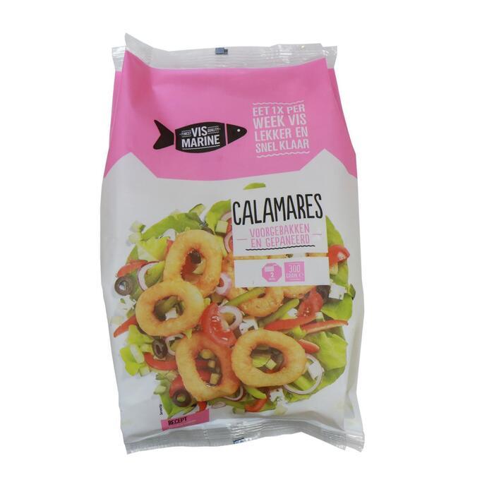 Calamares voorgebak en gepaneerd (300g)