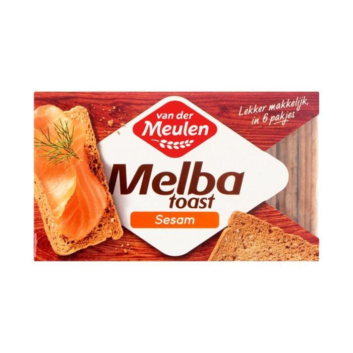 Van der Meulen, De Meesterbakkers, Melba Toast, sesam (circa 30 stuks) (Stuk, 100g)