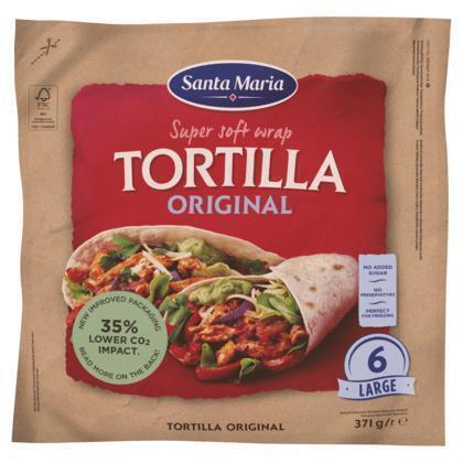 Original Wrap Tortilla Santa M (6 × 371g)