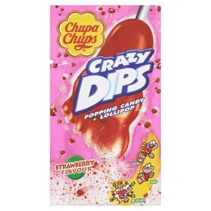 Chupa Chups Crazy Dips Aardbei 14 g (14g)