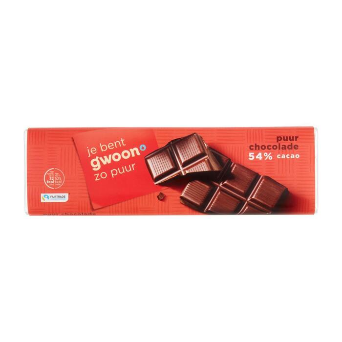 g'woon Chocoladereep puur (180g)