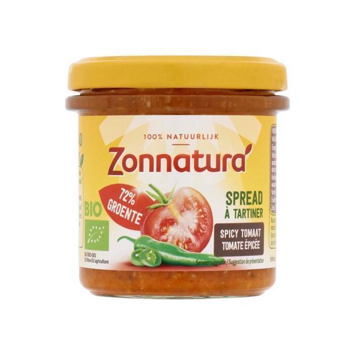 Zonnatura Spicy Tomaten Spread 135g (135g)