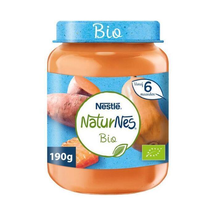 NaturNes Zoete aardappel zalm 6+ mnd babyvoeding (190g)