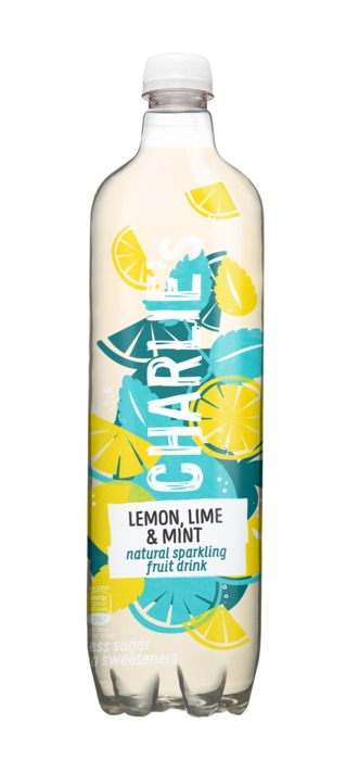 Charlie's Natural Sparkling Fruit Drink Lemon, Lime & Mint 1 L (1L)