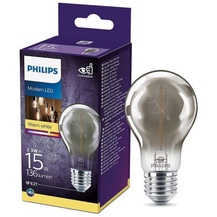 Philips Fil std E27 15W smoky