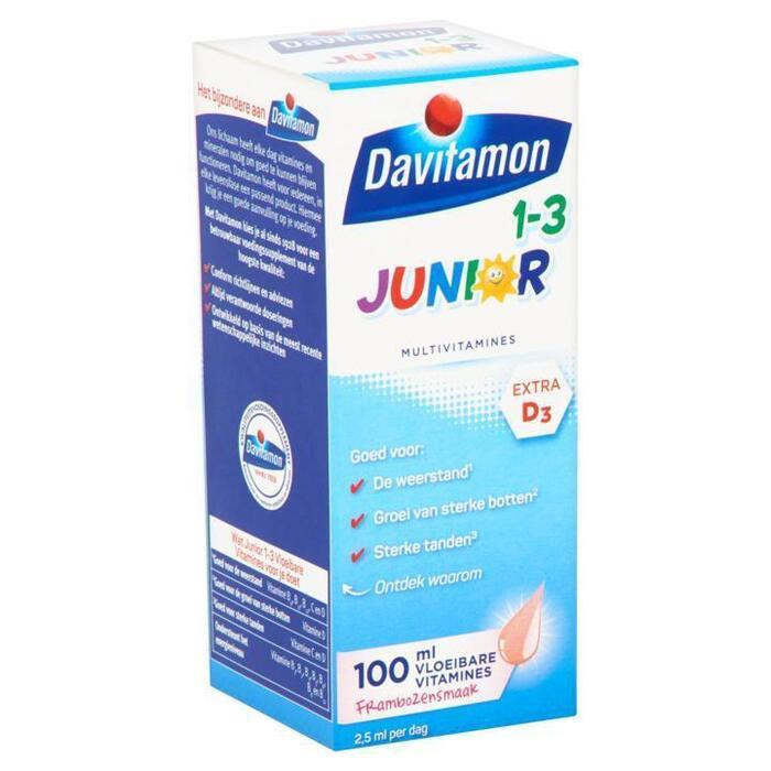 Davitamon Junior multivitamines framboos 1-3 jaar (100ml)