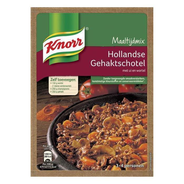 Hollandse gehaktschotel, wortel en champignon (58g)