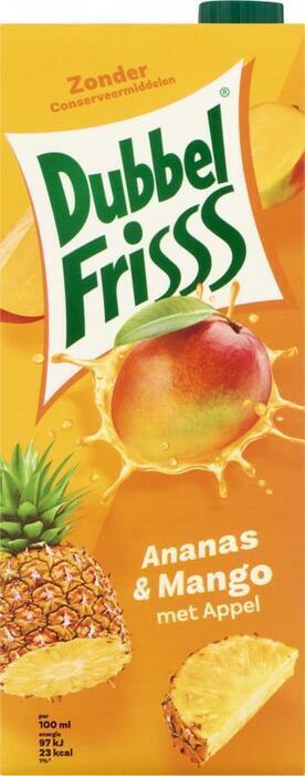 Dubbel Frisss Ananas & Mango (Stuk, 1.5L)
