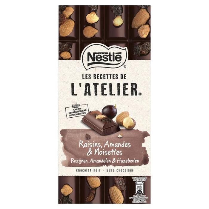 NESTLE L'ATELIER Chocolade Puur Rozijn Hazelnoot Amandel 170 Gram Wikkel (170g)