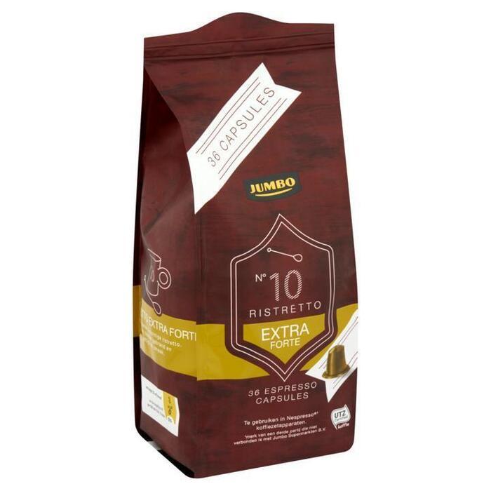Jumbo N°10 Ristretto Extra Forte Espresso Capsules 36 Stuks (187g)