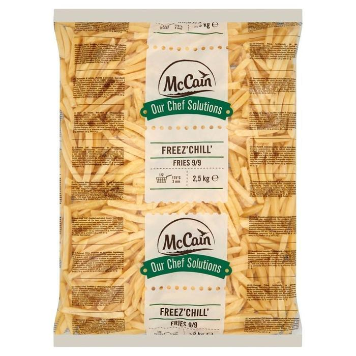 MCCAIN OUR CHEF SOLUTIONS FREEZ' CHILL' FRITES 9/9 (2.5kg)