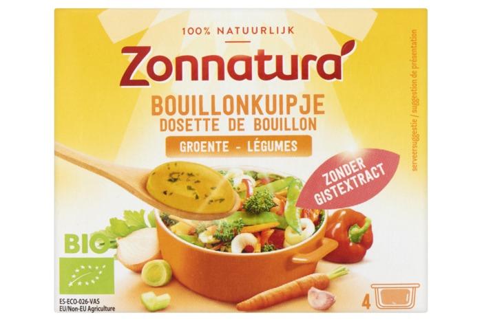 Zonnatura Bouillon kuipje groenten (4 × 24g)