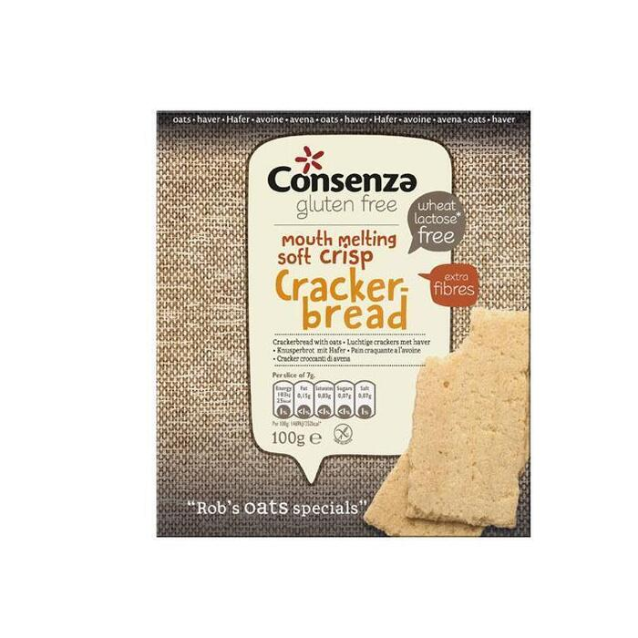 Consenza Luchtige haver crackers (100g)