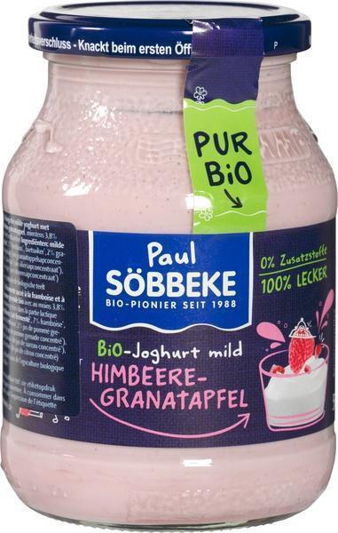 Pur Bio Yoghurt framboos granaatappel (500g)