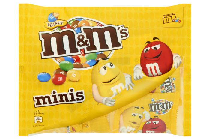 M&M's Peanut mini's (zak, 11 × 20g)