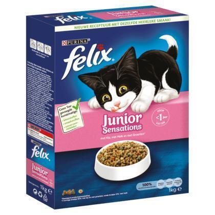 Felix Junior Sensations met Kip, Granen & Melk 1 kg (Stuk, 1g)